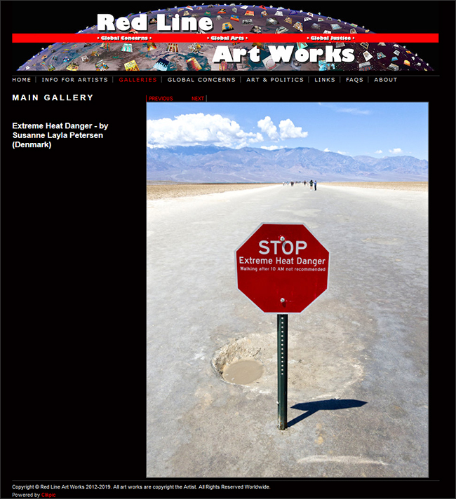 Extreme Heat Danger in Red Line Art Works Gallery